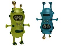 Peaceful aliens. In a green and blue dress Royalty Free Stock Photos