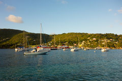 A peaceful anchorage in the caribbean Stock Photography