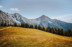 Peaceful autumn scenery in the dolomites Royalty Free Stock Photography