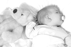 Peaceful Baby Stock Photography