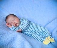 Peaceful baby sleeping Stock Photos