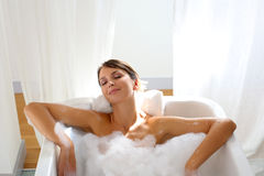 Peaceful bathing time Stock Image
