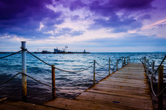 Peaceful Bay After The Rain Royalty Free Stock Photo