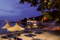 Peaceful beach bar in Greece Stock Image