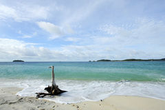 The peaceful beach. Royalty Free Stock Photo