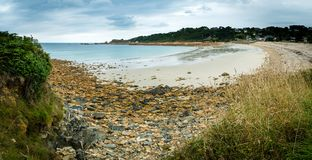 Peaceful beach in Brittany. In the summer Stock Photo