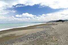 Peaceful Beach on the Eastern Cape of New Zealand's North Island. Stock Photo