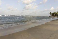 Peaceful beach, excellent to relax e recover life energy. Calm waves, white sand and a beautiful skyline.nSouth Natal, Rio Grande do Norte coastline Stock Photo