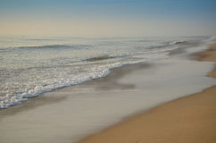 Peaceful Beach. I love the Beach,the sand, surf, and waves Stock Photo