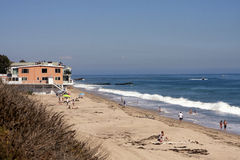 Peaceful Beach on Pacific Ocean near Malibu, CA. Peaceful stretch of beach on Pacific Ocean coast near Malibu, California, USA Royalty Free Stock Photo