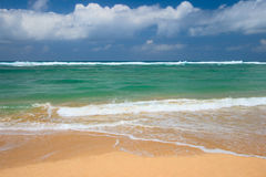Peaceful beach scene Stock Photo