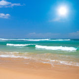Peaceful beach scene Royalty Free Stock Photos