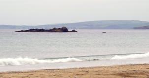 Peaceful beach scene stock footage