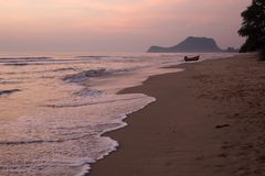 Pranburi Beach, Prachuap Khiri Khan, Thailand stock photo