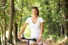 Peaceful bike ride Stock Images