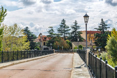 A peaceful bridge in the city of Zamora, Spain Royalty Free Stock Image