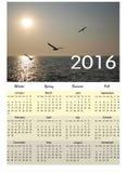 Peaceful calendar 2016 Royalty Free Stock Photo