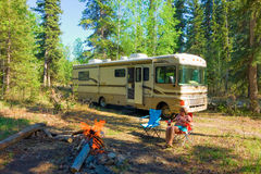 A peaceful camp-site in northern canada Stock Photo