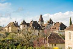 Peaceful carennac village at france Stock Photos