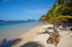 Peaceful Caribbean beach in Panama Stock Photo