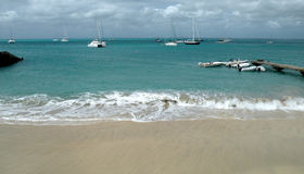 Peaceful Caribbean harbor Royalty Free Stock Photo