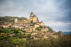 Peaceful castelnaud village at france Royalty Free Stock Images