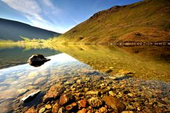 Peaceful. A Clear Peaceful Hayeswater - England Stock Images