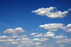 Peaceful clouds. Stock Photo