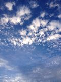 Peaceful clouds. A peaceful view of the sky and the clouds Royalty Free Stock Images