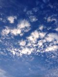 Peaceful clouds. A peaceful view of the sky and the clouds Stock Images