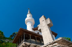 Peaceful coexistence of Orthodox and Muslim religions Stock Photo
