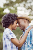 Peaceful couple standing nose to nose Royalty Free Stock Photography