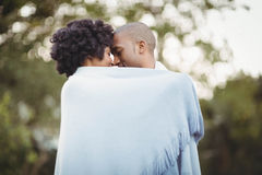 Peaceful couple standing nose to nose Stock Photo