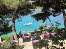 Peaceful cove on Hvar Island Stock Images