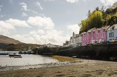 Peaceful day in the harbour. Peaceful day in Portree Harbour Isle of Skye, Scotland Royalty Free Stock Photo