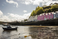 Peaceful day in the harbour. Peaceful day in Portree Harbour Isle of Skye, Scotland Royalty Free Stock Photos