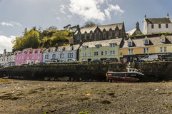 Peaceful day in the harbour. Peaceful day in Portree Harbour, Isle of Skye, Scotland Royalty Free Stock Image