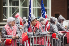 A peaceful demonstration of Chinese activists in Washington Royalty Free Stock Photo