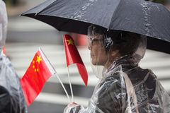A peaceful demonstration of Chinese activists in Washington Stock Photography