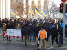 Peaceful demonstration in Kiev Stock Image