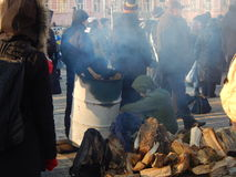 Peaceful demonstration in Kiev Stock Photo