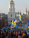 Peaceful demonstration in Kiev Royalty Free Stock Photo