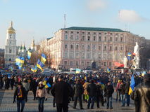 Peaceful demonstration in Kiev Stock Images