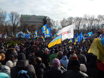 Peaceful demonstration in Kiev Stock Photos
