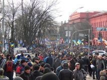 Peaceful demonstration in Kiev Royalty Free Stock Photography