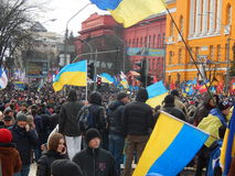 Peaceful demonstration in Kiev Stock Photography