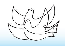Peaceful doves. An illustration of peaceful doves royalty free illustration