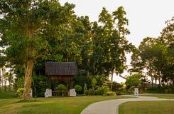 Peaceful evening in the garden Royalty Free Stock Photos