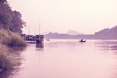 Peaceful Evening At The Mekong River Stock Images