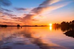 Peaceful evening in northern Scandinavia Royalty Free Stock Photos